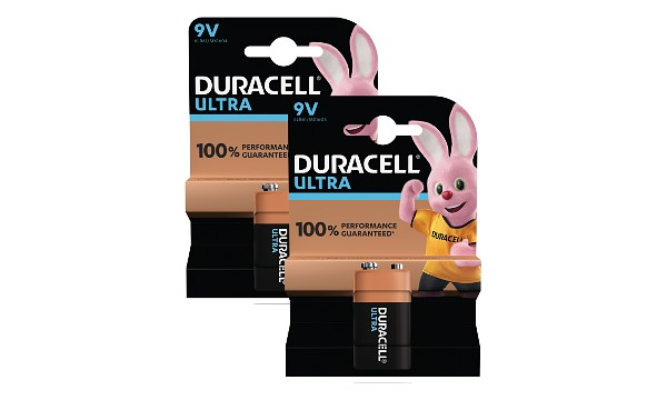9V Duracell Ultra Power 2 Packs de Piles