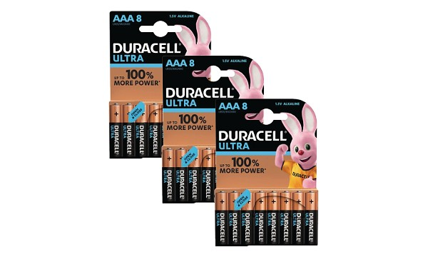 Blister de 24 Duracell Ultra Power AAA