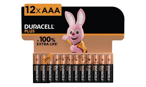 Pack de 12 piles AAA Duracell Plus Power