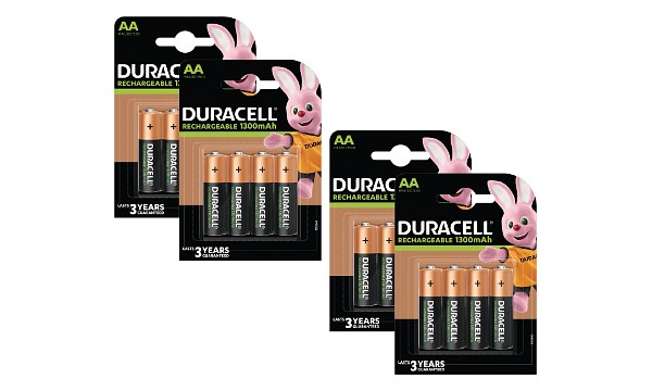 Duracell AA 1300mAh Rechargeable - Pack de 16