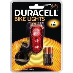 Luce posteriore Duracell 3 LED per bicicletta