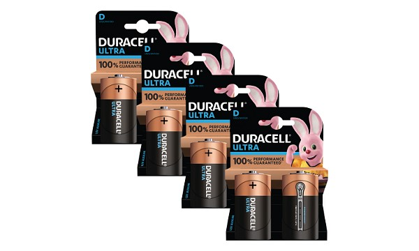 Pacco da 8 Duracell Ultra Power D
